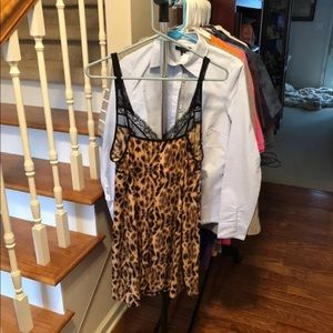 New Directions Intimates Cheetah Size L NWT